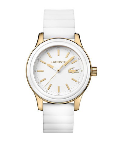 Lacoste Womens Analog Rio Watch-WHITE-One Size