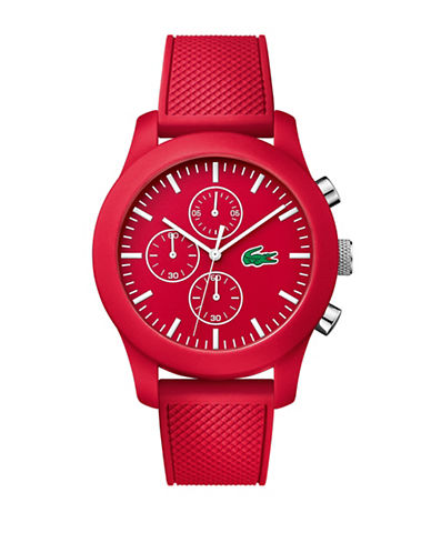 Lacoste Mens Red Chronograph Lacoste 12.12 Watch-RED-One Size