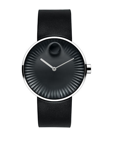 Movado Edge Stainless Steel Watch in Black-BLACK-One Size