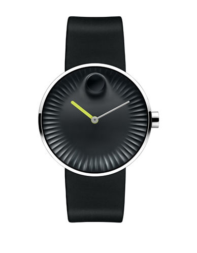 Movado Edge Stainless Steel Watch with Neon-BLACK-One Size