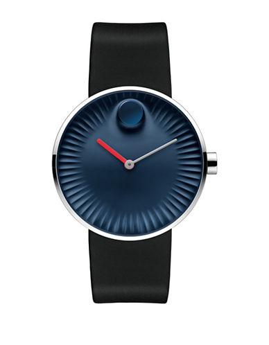 Movado Edge Stainless Steel Watch in Navy-NAVY-One Size
