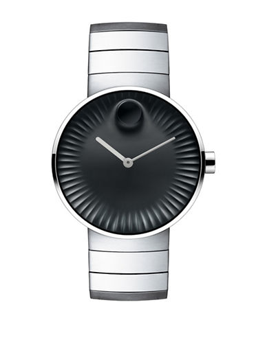 Movado Edge Stainless Steel Bracelet Watch-SILVER-One Size