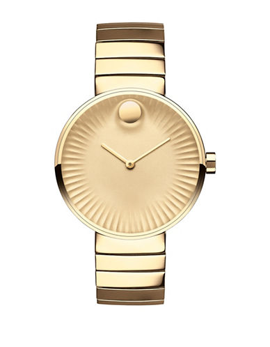 Movado Edge Goldtone Stainless Steel Watch-GOLD-One Size