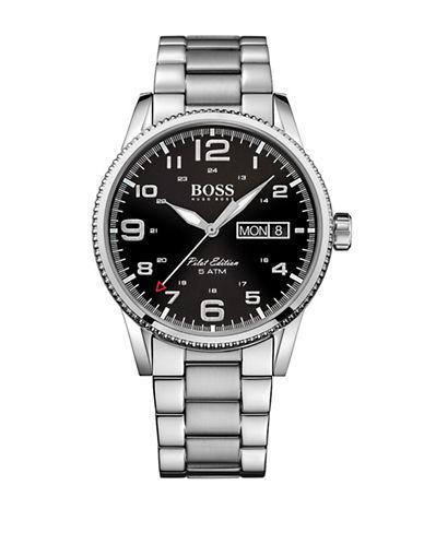 Boss Analog Pilot Sunray Watch-BLACK-One Size