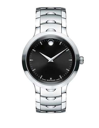 Movado Luno Quartz Stainless Steel Bracelet Watch-SILVER-One Size