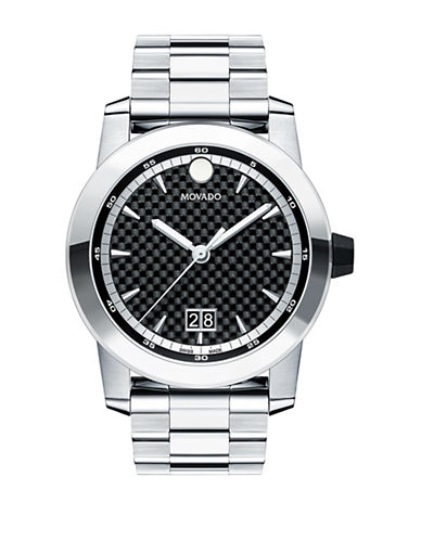 Movado Analog Vizio Stainless Steel Bracelet Watch-BLACK-One Size