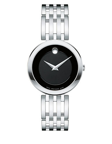 Movado Esperanza Analog Stainless Steel Bracelet Watch-BLACK-One Size
