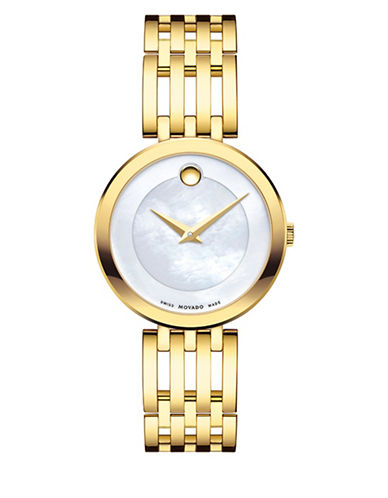 Movado Analog Esperanza Stainless Steel Watch-WHITE-One Size
