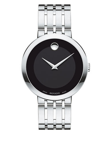 Movado Esperanza Analog Stainless Steel Bracelet Watch-BLACK-One Size