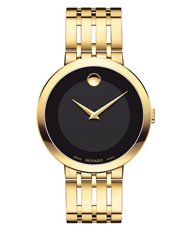 Movado Analog Esperanza Stainless Steel Watch-BLACK-One Size