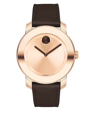 Movado Bold Bold Rose Goldtone Strap Watch-PINK-One Size