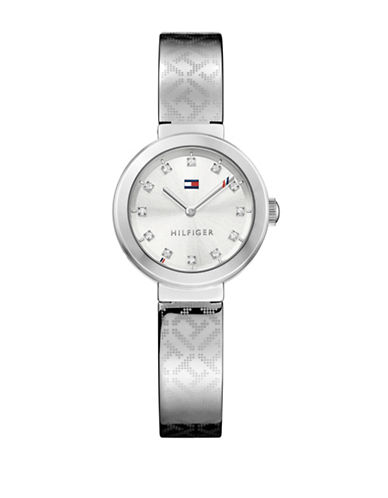 Tommy Hilfiger Silvertone Stainless Steel Analog Bangle Watch-SILVER-One Size