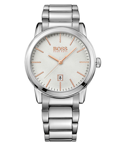 Boss Classic 40mm Stainless Steel Watch-SILVER-One Size
