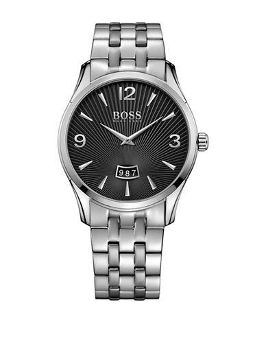 Boss Analog Commander Classic Stainless Steel Bracelet Watch-BLACK-One Size