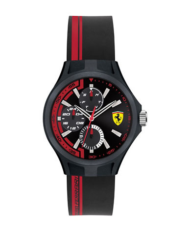 Ferrari Multi-Function Pitcrew Silicone Watch-RED-One Size