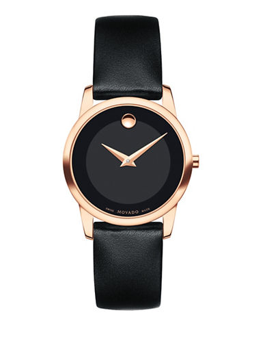 Movado Museum Classic Stainless Steel Strap Watch-BLACK-One Size