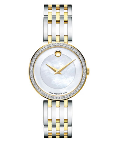 Movado Esperanza Mother-of-Pearl Two-Tone Stainless Steel Link Bracelet Watch-MULTI-One Size