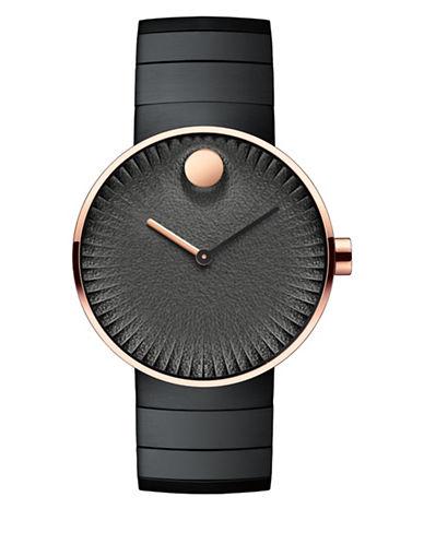 Movado Analog Edge Two-Tone Bracelet Watch-BLACK-One Size