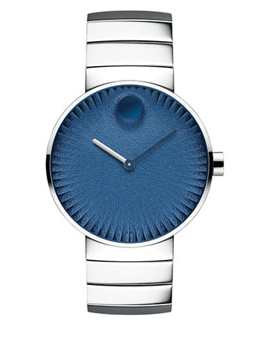 Movado Analog Edge Stainless Steel Bracelet Watch-BLUE-One Size