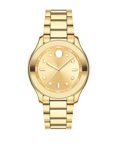 Movado Bold Analog Bold Stainless Steel Two-Tone Watch-GOLD-One Size