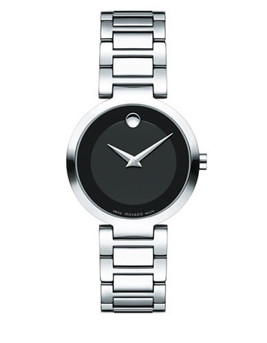 Movado Analog Modern Classic Stainless Steel Bracelet Watch-BLACK-One Size