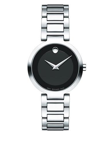 Movado Analog Modern Classic Stainless Steel Bracelet Watch-BLACK-One Size