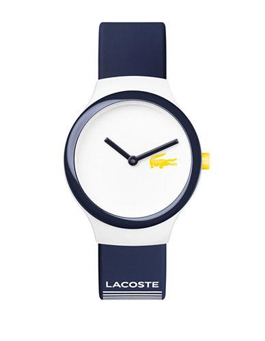 Lacoste Analog Goa Silicone Strap Watch-BLUE-One Size