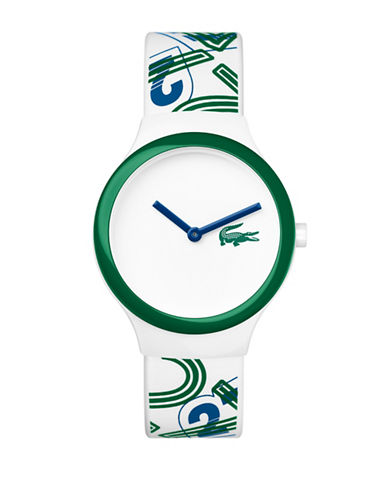 Lacoste Analog Goa Silicone Strap Watch-WHITE MULTI-One Size