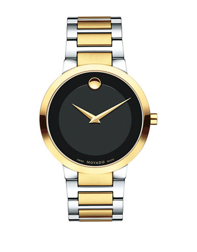 Movado Analog Modern Classic Goldtone Bracelet Watch-BLACK-One Size