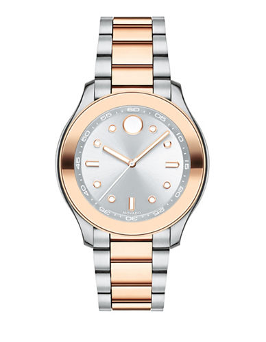 Movado Bold Bold Mid-Size Sport Two-Tone Stainless Steel Bracelet Watch-SILVER-One Size