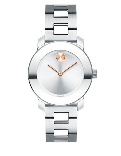 Movado Bold Analog Mid-Size BOLD Two-Tone Bracelet Watch-SILVER-One Size