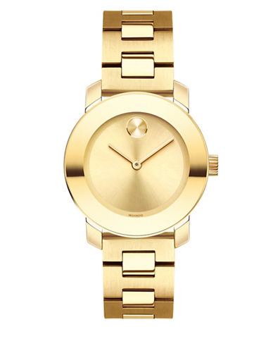 Movado Bold Analog Mid-Size BOLD Goldtone Bracelet Watch-GOLD-One Size