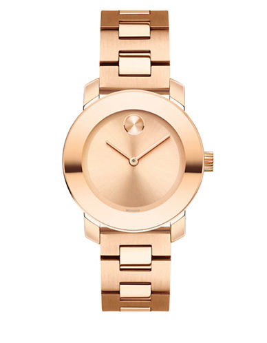 Movado Bold Analog Mid-Size BOLD Two-Tone Bracelet Watch-ROSE GOLD-One Size