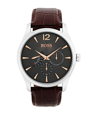 Boss Quartz Multifunction Stainless Steel Watch-SILVER-One Size