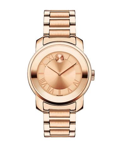 Movado Bold Analog BOLD Luxe Rose-Goldtone Bracelet Watch-ROSE GOLD-One Size