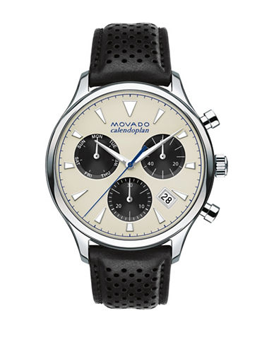 Movado Calendoplan Chronograph Heritage Series Watch-GOLD-One Size