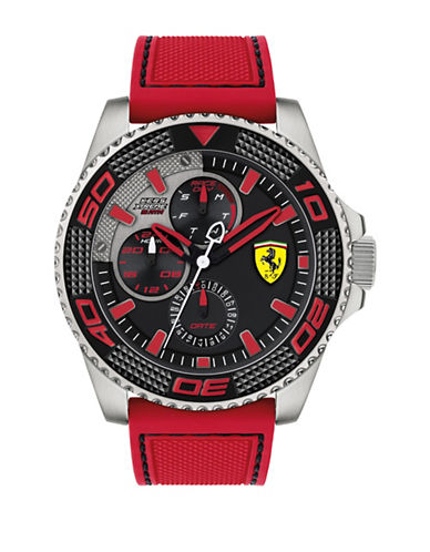 Ferrari Multi Kers Xtreme St830469 Silicone rap Watch-RED-One Size 89677895_RED_One Size