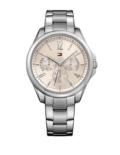 Tommy Hilfiger Stainless Steel Chronograph Multifunction Link Bracelet Watch-ROSE GOLD-One Size
