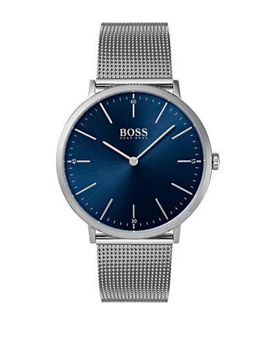 Boss 1513541 Horizon Stainless Steel Mesh Bracelet Watch-BLUE-One Size