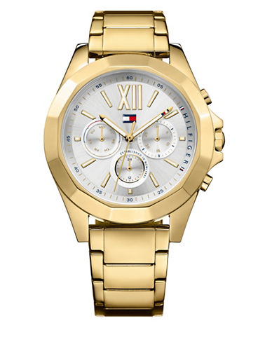 Tommy Hilfiger Chelsea Goldplated Quartz Watch-GOLD-One Size