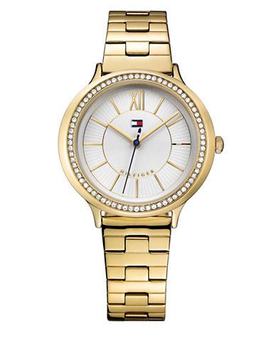 Tommy Hilfiger Candice Stoset Bracelet Watch-GOLD-One Size