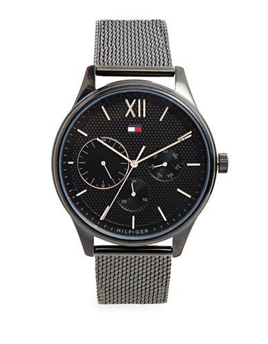 Tommy Hilfiger Black Chronograph Mesh Bracelet Watch-BLACK-One Size