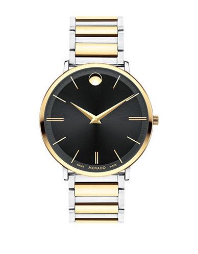 Movado Ultra Slim Stainless Steel Link Bracelet Watch-MULTI-One Size