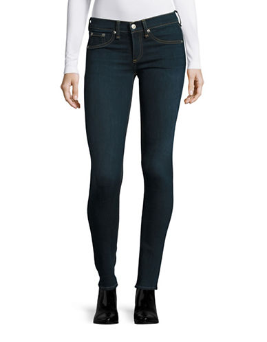 Rag & Bone Skinny Low-Rise TECH Jeans-BLUE-32