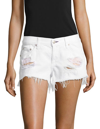 Rag & Bone/Jean Denim Cut Off Shorts-WHITE-29