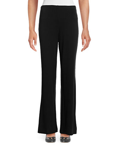 Ruby Rd Pull-On Wide-Leg Knit Pants-BLACK-Large 88718628_BLACK_Large