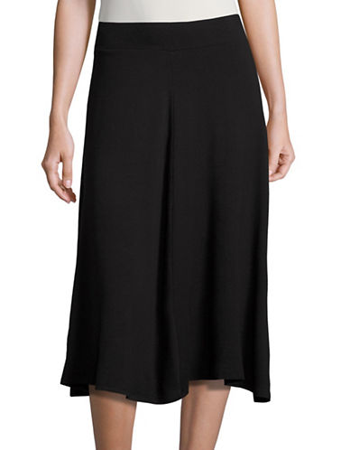 Ruby Rd Pull-On Knit Swing Skirt-BLACK-Small 88718634_BLACK_Small