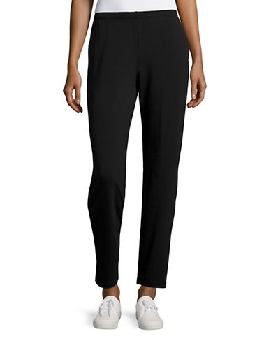 Ruby Rd Pull-On Terry Pants-BLACK-Large 88559258_BLACK_Large