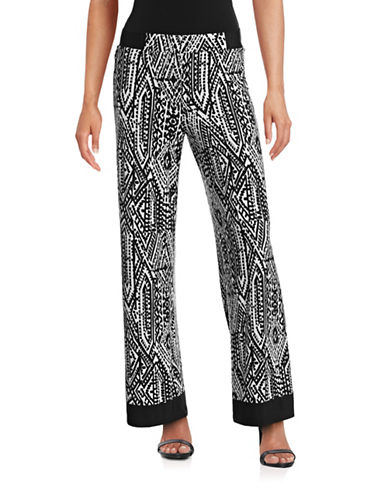 Ruby Rd Printed Palazzo Pants-BLACK/WHITE-X-Large 88481151_BLACK/WHITE_X-Large