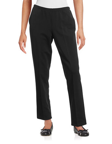 Ruby Rd Stretch Jogging Pants-BLACK-Large 88639908_BLACK_Large